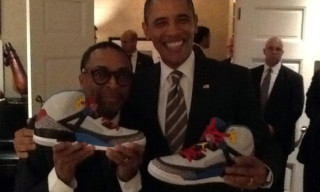Barack Obama Receives Jordan Spiz'ikes From Spike Lee