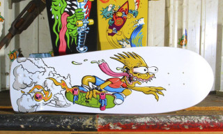 Santa Cruz Slasher-Inspired Bart Simpson Skateboard