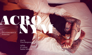 Highsnobiety Feature: Acronym Spring/Summer 2012 Modeled by Rick 'Zombie Boy' Genest