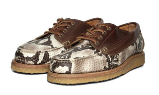 Yuketen Crepe Sole Country Ranger Moc in Snakeskin