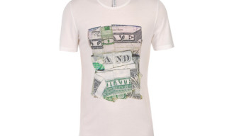 Dan Tague for Neil Barrett Limited Edition 'Folded Dollar Bill' T-Shirts