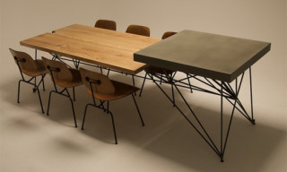 GoreDesign HG Concrete + Wood + Steel Table