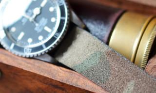 Hodinkee Suede Camouflage Watch Strap