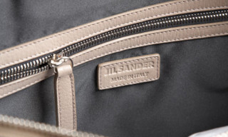 Jil Sander Python Leather Geometric Tote