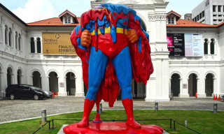 Melting Superman Sculpture at Singapore Art Museum