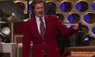 Video: Ron Burgundy's announces Anchorman 2 on CONAN