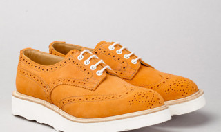Tricker's for Norse Projects Suede Derby Brogues