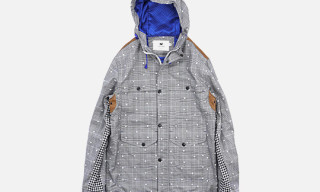 Untold Glen Check Twill Stretch Dot Pattern Parka