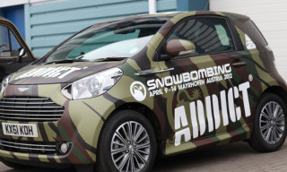 Addict Wraps the Aston Martin Cygnet in Camouflage