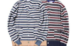 COMME des GARCONS Junya Watanabe MAN Silk Wool Border Cardigans