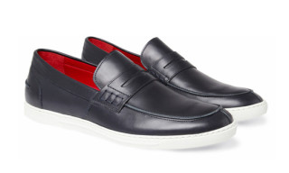 Junya Watanabe COMME des GARCONS MAN x Tricker's Steer Rubber-Sole Leather Loafers