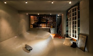 House in Kitasando with Built-In Skate Bowl