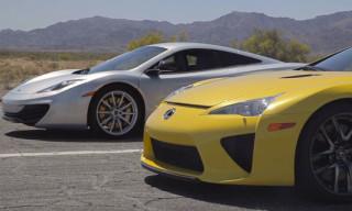 Head 2 Head: Bugatti Veyron vs Lamborghini Aventador vs Lexus LFA vs McLaren MP4-12C