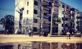 JR + José Parla Murals in Havana – Wrinkles of the City Project