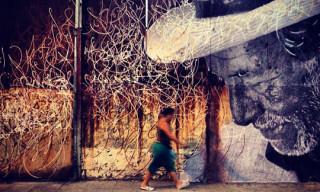 JR + José Parla Mural in Havana