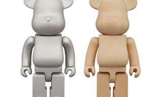 New Medicom 400% Bearbricks – Karimoku Glow In The Dark & Aluminium