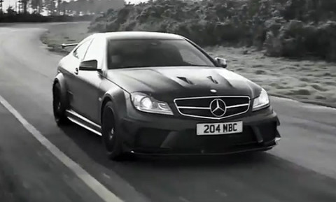 mercedes benz usa presents this beautiful black and white film highlighting the dark side of the c63 amg black series - Mercedes Benz C63 Amg Black Series White