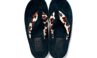 WTAPS x Island Slipper 'Leopard' Cow Leather Sandals