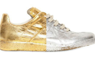Martin Margiela Metallic Foil Military Sneakers