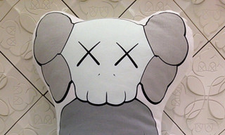 Original Fake KAWS Companion Cushion – Grey Colorway