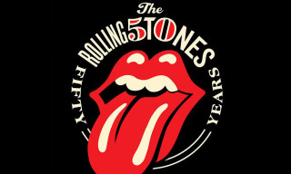 Rolling Stones 50th Anniversary Lips Logo by Shepard Fairey