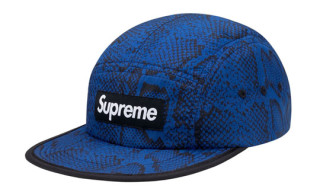 Supreme Nylon Soft Bill Snake Camp Caps