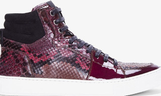 Yves Saint Laurent Raspberry Python Malibu Sneakers