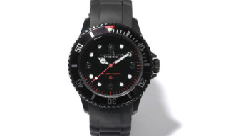 A Bathing Ape 'Black' Bapex Clear Watch