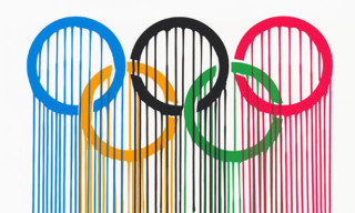 Liquidated Olympic Rings Print by Zevs