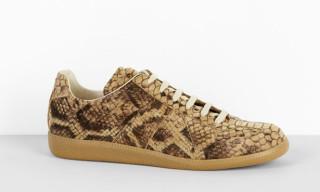 Maison Martin Margiela Snake Print Military Sneakers