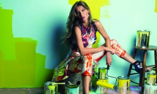 """Neon Gisele"" by Patrick Demarchelier for Vogue Brazil"