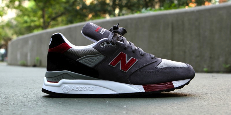 New Balance 998 Grey Red Made in USA  409bb33f1