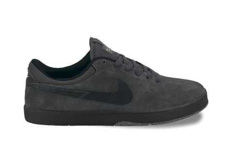 nike sb eric koston 1 sneaker - anthracite/black/dust gold