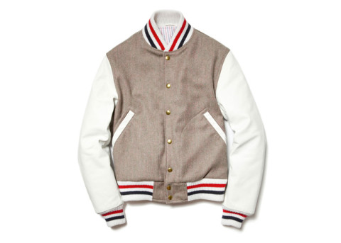 thom browne tweed varsity jacket fall winter 2012