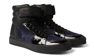 Yves Saint Laurent Leather and Suede Sneakers