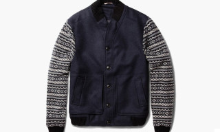 Oliver Spencer Fair Isle Knitted Bomber Jacket