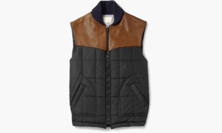 Band Of Outsiders 'Leather-Trimmed Quilted Gilet'