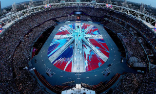 Damien Hirst Designs Union Jack Flag for the London Olympics Closing Ceremony