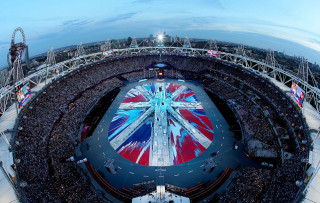 Damien Hirst Designs Flag for the London Olympics Closing Ceremony