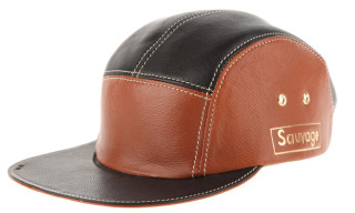 Enswear 'Sauvage' 5-Panel Leather Caps