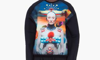 Juun J 'Robot Print' Neoprene Crewneck Sweaters