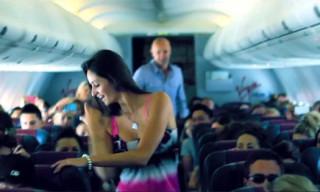 "Video: Kanye West's Dancers Start ""Runaway"" Flash Mob in Flight"