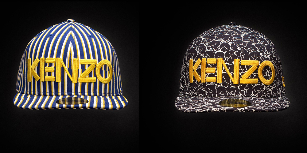 Kenzo x New Era Fall 2012 Fitted Caps - Stripes   Flower Camo ... facf4bc3399