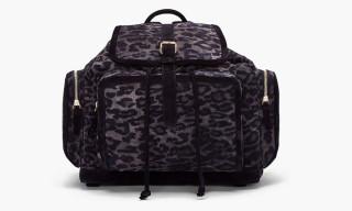 Pierre Hardy Suede Leopard Print Backpack