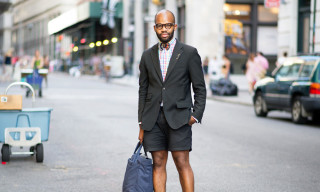 Street Style: Teddy Tinson in Theory, Club Monaco & More