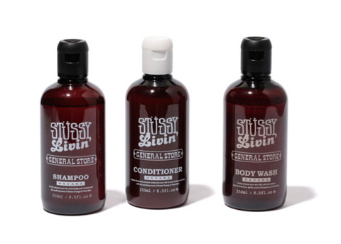stussy livin general store hair and body care products
