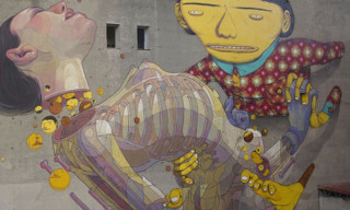 Os Gemeos and Aryz in Poland for Urban Forms Foundation