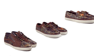 "Horween Leather x Vans Vault ""Brushed Camo"" Pack"