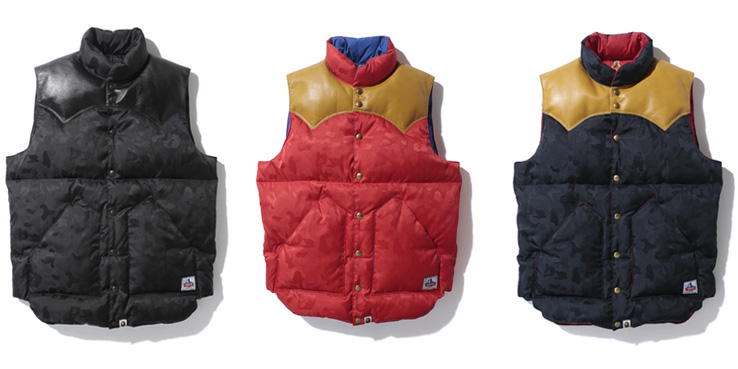 Bape X Rocky Mountain Featherbed Down Vests Highsnobiety