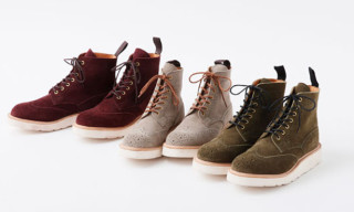 beautiful people x Tricker's Suede Brogue Boots